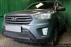 Защитно-декоративные решётки радиатора Hyundai Creta 2016-