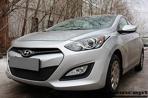 Защита радиатора Hyundai i30 2013-2015 black