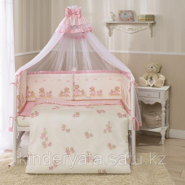 Детский постельный комплект Тиффани Неженка, розовый,  7 предметов
