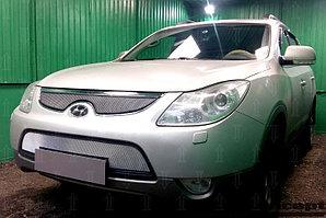 Защита радиатора Hyundai IX55 2009-2013 chrome середина