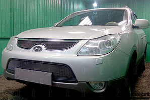 Защита радиатора Hyundai IX55 2009-2013 black середина