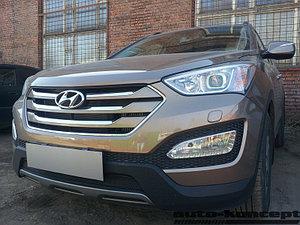 Защита радиатора Hyundai Santa Fe 2012-2015 black