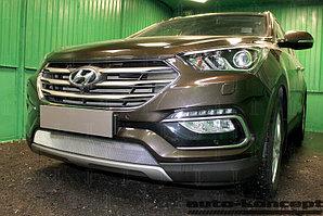Защита радиатора Hyundai Santa Fe 2015- chrome