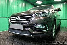 Защитно-декоративные решётки радиатора Hyundai Santa Fe 2015-