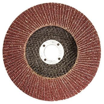 (74005) Круг лепестковый торцевой КЛТ-1, зернистость Р60(25Н), 125 х 22,2 мм, (БАЗ)//Россия