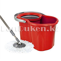 Набор для уборки швабра + ведро с отжимом Zambak 188 красный
