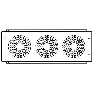 Пластина с 3-мя вентиляторами шириной 800 мм