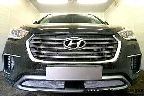 Защита радиатора Hyundai Grand Santa Fe III 2015- chrome