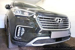 Защита радиатора Hyundai Grand Santa Fe III 2015- black
