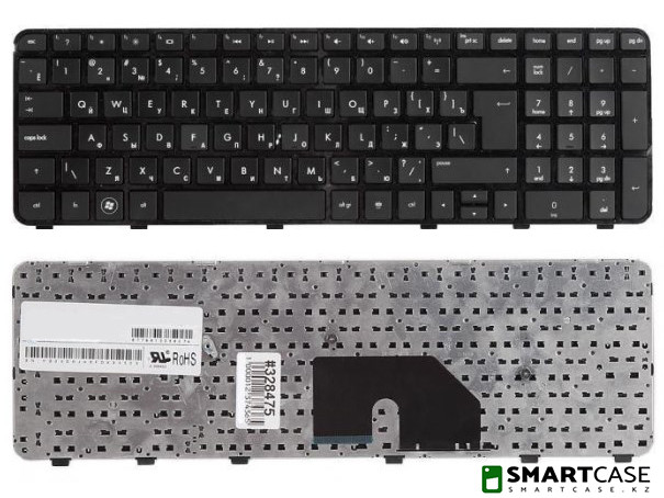 Клавиатура для ноутбука HP Pavilion DV6-6000 (черная, RU)