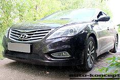 Защитно-декоративные решётки радиатора Hyundai Grandeur V 2011-