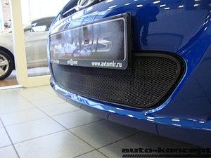 Защита радиатора Hyundai Solaris 2011-2014 black