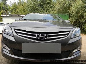 Защита радиатора Hyundai Solaris 2014-2017 black