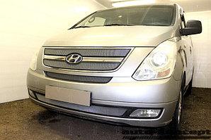 Защита радиатора Hyundai Starex H1 II 2007-2015 (3 части) chrome верх