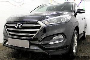 Защита радиатора Hyundai Tucson 2015- (Comfort, Travel, Prime) chrome низ