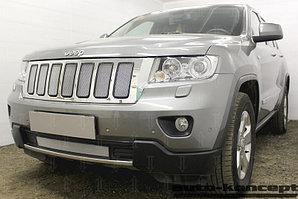 Защита радиатора Jeep Grand Cherokee IV (WK2) 2010-2013 chrome верх