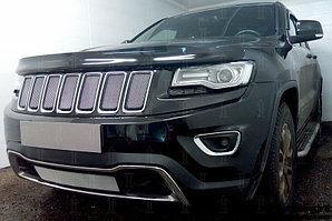 Защита радиатора Jeep Grand Cherokee IV (WK2) 2013- (Laredo, Limited) chrome верх