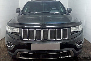 Защита радиатора Jeep Grand Cherokee IV (WK2) 2013- (Laredo, Limited) black верх