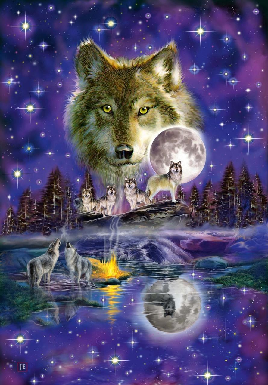 """Картина по номерам """"Ночные волки"""""""