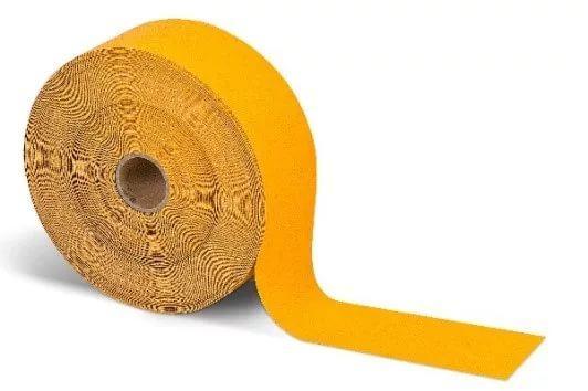 Жёлтая ПВХ лента для дорожной разметки и ИДН