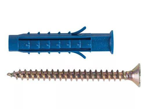 Саморез с п/э дюбелем для крепления защиты углов, стен