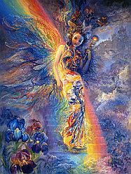 "Картина по номерам ""Девушка-радуга"" (Жозефина Уолл) под заказ 3 дня"