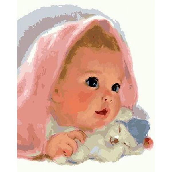"""Картина по номерам """"Малышка""""  под заказ 3 дня"""