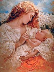 """Картина по номерам """"Мама и малыш""""   под заказ 3 дня"""