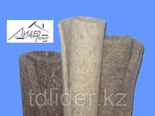 Войлок юртовый грубошерстный, пл.0,25г/см3
