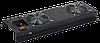 ITK Вентиляторная панель с выключателем 2 модуля черная