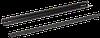 ITK Направляющие уголки 600мм, черные (2 шт)