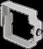 ITK Организатор кабельное кольцо 80х80мм, серый