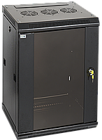 ITK Шкаф настенный LINEA W 15U 600х450мм дверь стекло RAL 9005