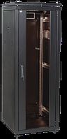 """ITK Шкаф сетевой 19"""" LINEA N 18U 600х800 мм стеклянная передняя дверь черный"""