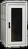"""ITK Шкаф сетевой 19"""" LINEA N 42U 600х1000 мм стеклянная передняя дверь серый"""