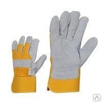 Перчатки силковое с усиленным наладонником комбинированные