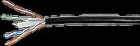 ITK Каб. вп U/UTP, кат.6 4х2х23AWG solid, LDPE, 305м, чер.