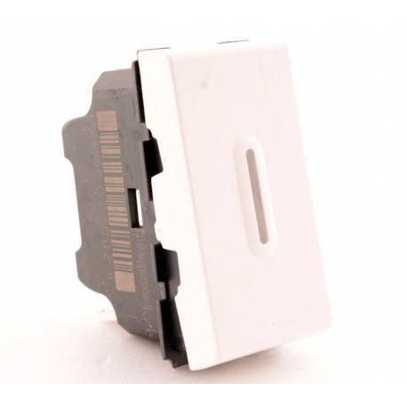 77002 - Переключатель на 2 направления со светодиодной подсветкой 10а (1 Модуль)