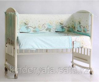 Бортик в кроватку Pituso Мишки (голубой)