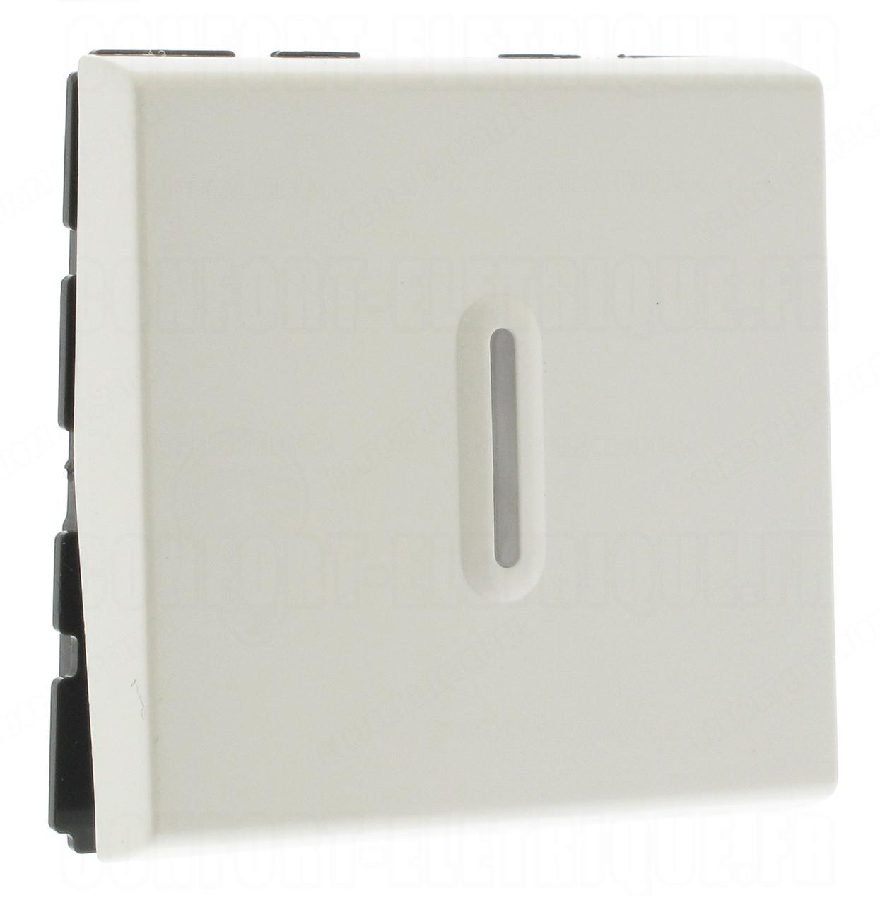 77042 - Кнопочный выключатель перекидной 6a со светодиодной подсветкой (2 Модуля)
