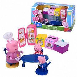 """Игровой набор """"Кухня Пеппы"""" (8 предметов + 3 фигурки)"""