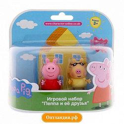 """28817 Игровой набор """"Пеппа и Педро""""5см.(могут сидеть, стоять, двигать ручками и ножками)"""