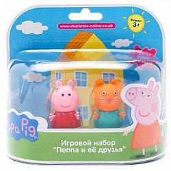 """28818 Игровой набор """"Пеппа и Кенди""""5см.(могут сидеть, стоять, двигать ручками и ножками)"""