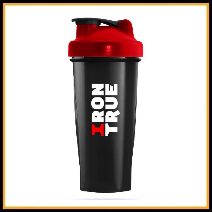 Шейкер Iron True красно-черный 700 мл (спираль)