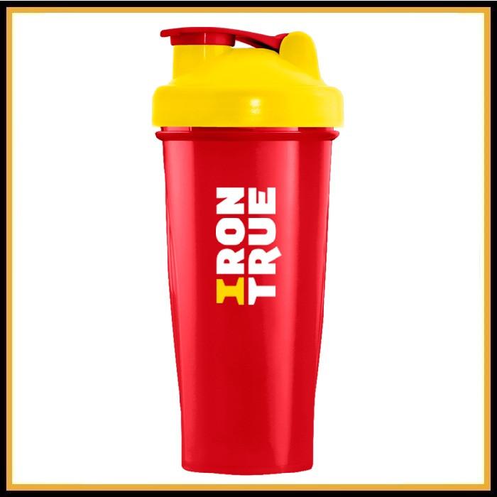 Шейкер Iron True желто-красный 700 мл (спираль)