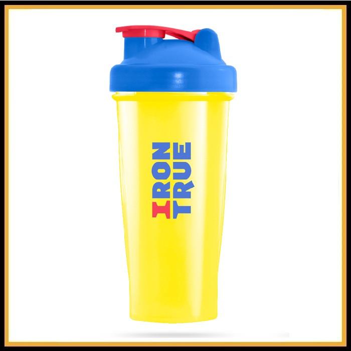 Шейкер Iron True голубой-желтый 700 мл (спираль)