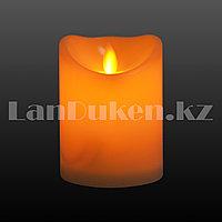 LED свеча задуваемая 7.5х10 см маленькая
