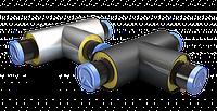 Тройники стальные с ППУ изоляцией в ПЭ/ОЦ оболочке с СОДК