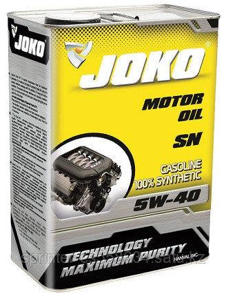 Моторное масло JOKO GASOLINE 5w40 4 литра