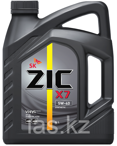 Моторное масло ZIC X7 5w40 4 литра